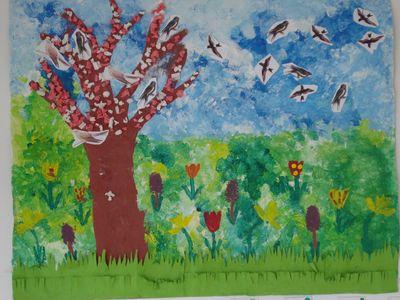 Notre Fresque Sur Le Printemps Le Blog Du Cycle 1 De Nostang